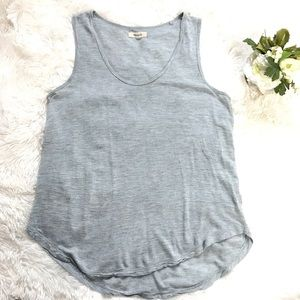 Madewell Light Blue Heathered Tank Top Small Shirt
